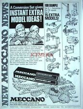 1971 MECCANO Advert 'Conversion Set' for Existing Outfits - Vintage Print Ad