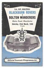 Blackburn Rovers Home Team Written - on Football Programmes
