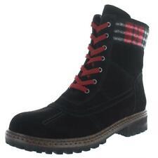 Blondo Womens Pyper Black Suede Combat Boots Shoes 8.5 Medium (B,M) BHFO 1245