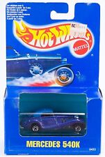 Hot Wheels Mercedes 540K Blue With Pink Glitter New In Box 1990