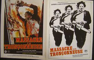 MASSACRE A LA  TRONCONNEUSE / RENE CHATEAU / PLV  / DOCUMENT MEDIA 4 PAGES /