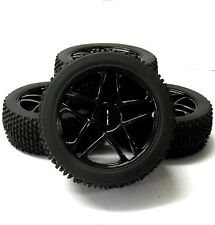 180082 1/8 Scale Off Road Buggy RC Star Wheels and Tyres Black x 4