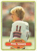 1980 Topps Football Phil Simms Rookie #225 New York Giants RC