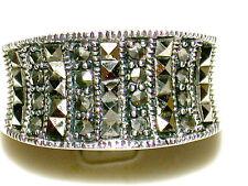 Stunning Vintage Marcasite Sterling Silver Ring