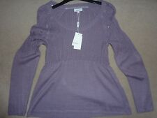 mauve purple jumper 12 Matalan BNWT Papaya flare swing long sleeve heather