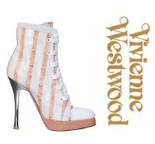 VIVIENNE WESTWOOD Leather Ankle Boots  ITALY Size 36.5 UK 3.5  US 6 NEW  $ 1200
