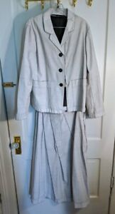 Rundholz Black Label Skirt and Jacket -light gray/blue denim M/L