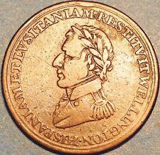 1812 Canada Medal Medaille Wellington Collegio  . Demi Penny.