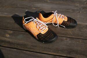 Reebok Crossfit Mens Trainers Size UK 8 EU42 Orange & Black Gym Athletic. VGC