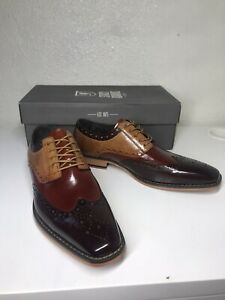 Stacy Adams $110 Men's Tinsley, Wingtip Oxford-Brown, Size 8.5M NEW IN BOX