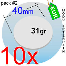 10x ROUND CLEAR ACRYLIC BASE 40mm CIRCULAR METACRILATO TRANSPARENTE SOCLE ROND