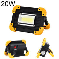 emergency searchlight LED work light USB rechargeable outdoor camping light 20W