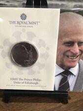More details for 2021 prince philip duke of edinburgh uk £5 bu coin in royal mint sealed pack