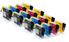 16 x Tinta para Brother dcp-165c DCP - C 195. dcp-375cw/lc-980bk lc-980c 980m 98