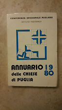 Annuario 1980 Delle Chiese Di Puglia - Conferenza Episcopale Pugliese -Tip Radio