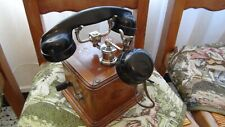 TELEPHONE ANCIEN BOIS COMBINE BAKELITE