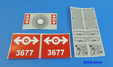 LEGO (03) PEGATINA (3677) Etiqueta/Locomotora diesel