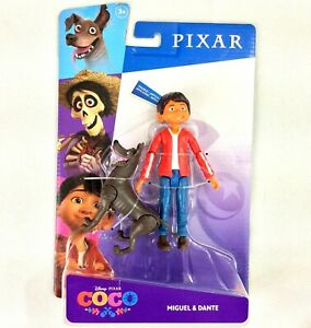 "Disney Pixar COCO Miguel & Dante Action Figure Set 5.5"" Posable Mattel NEW"