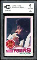 1977-78 Topps #100 Julius Erving Card BGS BCCG 9 Near Mint+