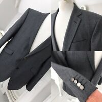AUTOGRAPH Alfred Brown Charcoal Blazer Mens Suit 100% Wool Jacket Size 42 Short