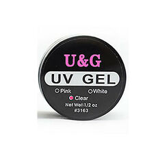 Nail Art UV Gel Builder Tips Glue Clear Pink White Colors Extension Manicure#
