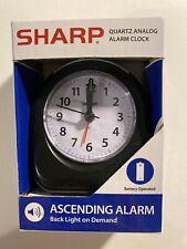 SHARP Quartz Analog Alarm Clock in Black