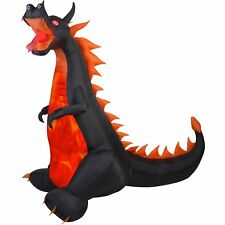 Airblown Inflatable 7' X 7.5' Dragon FIRE & ICE Halloween NEW