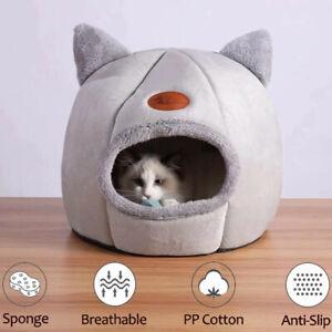 Cat Nest Dog House Bed Kitten Pet Igloo Box Cave Puppy Sleeping Cozy Hut Tunnel