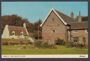 Postcard St Olaves near Gorleston on Sea Norfolk the Bell Inn pub posted 1977
