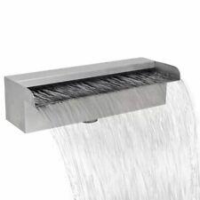 vidaXL Waterval voor Vijver/Zwembad Vierkant 30 cm RVS Waterornament Decoratie