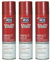 (3 Pack) VO5 Salon Series - Perfect Hold - Finishing Hairspray 9 oz each