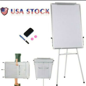 """36x24"""" Magnetic Dry Erase Easel White Board Tripod Stand Display Adjustable US"""