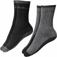 Dickies THERMIQUE CHAUSSETTES TRAVAIL 2 Paires Taille UK 6 - 11 thermo noir gris
