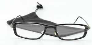 Lindberg Glasses 1009 50-18 160 Titanium Col. AA37 Acetanium Ace Strip Black