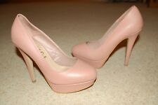 """Womens Dusky Pink Platform Shoes 6"""" heel - Office Size 5 Great Condition"""
