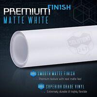 "24"" x 60"" In Matte Flat White Vinyl Wrap Sheet Decal Bubble Free Air Release (A)"