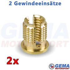 Messing Gewindeeinsatz Gewindeeinsätze für Kunststoff Gewinde Reparatur M3 - M8