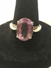 KABANA Purple AMETHYST COCKTAIL RING Sterling Silver OVAL FACETED Sz:8