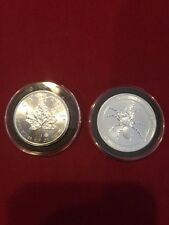 2015- 1oz Silver Australian Funnel-Web Spider and 2015 Silver Canada Maple leaf