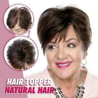 Women Ladies Silky Clip-On Hair Topper Short Straight Hair Wig Full Wigs 5colors