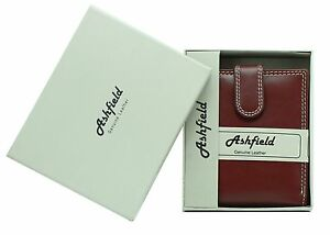 Ashfield Mens Real Leather Wallet With Zip Coin Pocket Pouch ID Window 118 Brown
