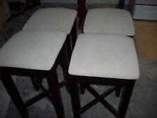Cushioned Wooden Bar Stools