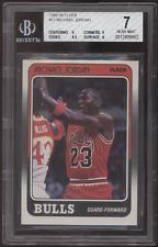 1988-89 Fleer #17 Michael Jordan Bulls BGS 7 Near Mint NM