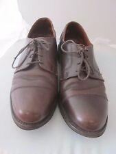 """Allen Edmonds Brown Leather Oxford Lace Up - Made In Usa Mens Sz 10 D """"Memphis"""""""