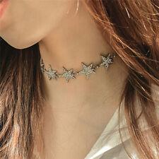 Rhinestone Star Collar Choker Necklace Statement Jewelry luxury Women Necklace ~