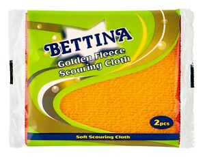 Bettina Golden Fleece Scouring Cloth - 2 Pack - Ideal For Washing Up
