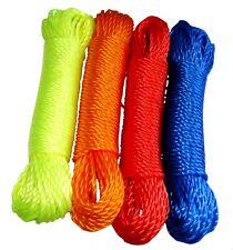 Lot de 4 bobines de corde fil à linge 4mm 20m en nylon couleurs variables