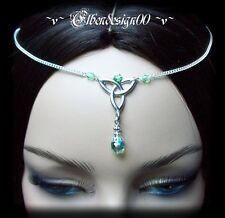 ^v^Stirnschmuck*Peridot Celtic*Gothic*LARP*circlet*medieval*Tiara*keltisch^v^