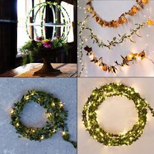 Fairy String Leaves LED Light Lamp Wedding Xmas Party Outdoor Indoor Room Decor