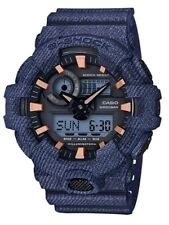 Casio G-Shock * GA700DE-2A Front Button Anadigi Denim Pattern Blue COD PayPal